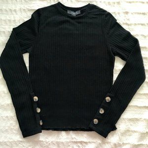 Black Ribbed Top from Primark